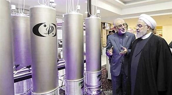الرئيس الإيراني حسن روحاني يتفقد منشأة بوشهر النووية (أرشيف)