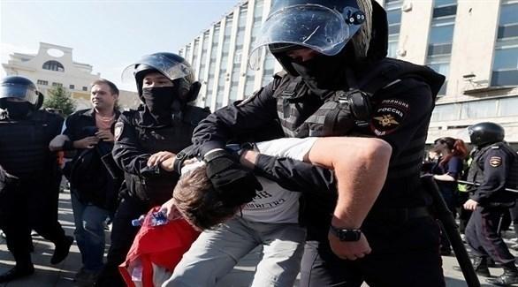 الشرطة الروسية تعتقل متظاهرين (وسائل إعلام روسية)