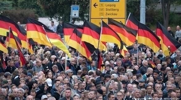 مؤيدون لليمين المتطرف في ألمانيا (د ب أ)