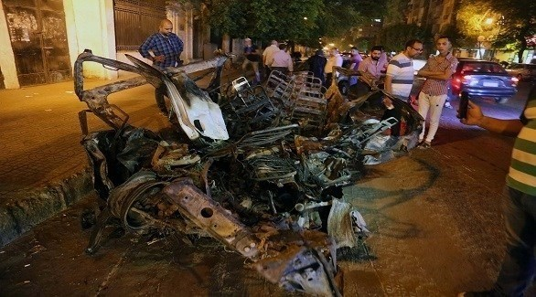 موقع الحادث بعد الانفجار (24 -محمود العراقي)