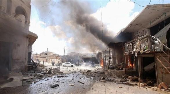 قصف في إدلب (أرشيف)