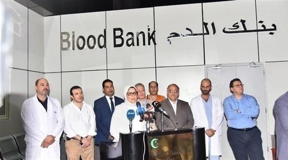 جانب من المؤتمر الصحافي (وسائل إعلام مصرية)