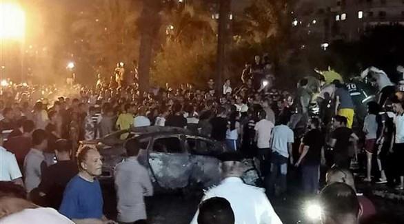 جانب من الحادث المؤسف (وسائل إعلام مصرية)