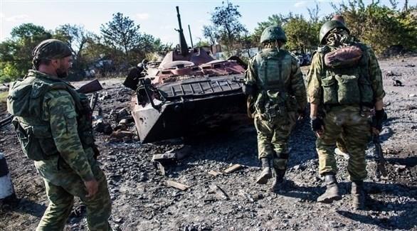 قصف نقطة عسكرية للجيش الأوكراني من قبل انفصاليين مدعومين من روسيا (أرشيف)