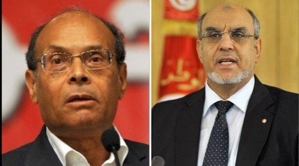 رئيس الحكومة التونسية السابق الجبالي والرئيس السابق المرزوقي (أرشيف)