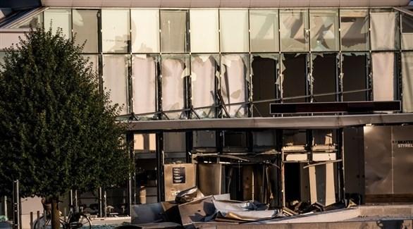 البنى بعد تعرضه للتفجير في كوبنهاغن