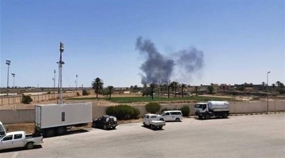 صورة تظهر قصف طائرات الجيش الوطني الليبي (أرشيف)