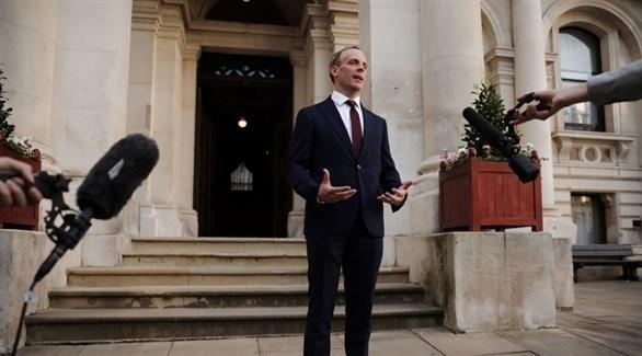وزير الخارجية البريطاني دومينيك راب (أرشيف)