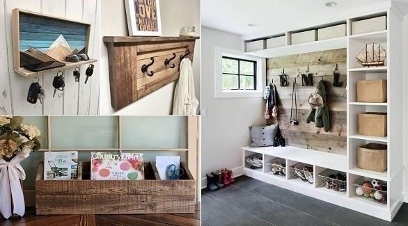 أفكار لاستخدام الخشب في ديكور مدخل المنزل (أميزنغ إنتيرير ديزاين)