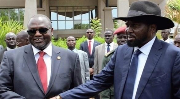 رئيس جنوب السودان سلفاكير ميارديت ونائبه زعيم المعارضة المسلحة ريك مشار (أرشيف)