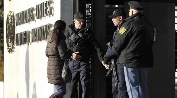 عناصر من الشرطة السويسرية في جنيف (أرشيف)