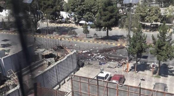 موقع الانفجار في شاريكار الأفغانية (تويتر)