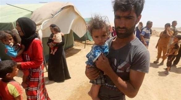 نازحون في مخيمات بمحافظة نينوى العراقية (أرشيف)