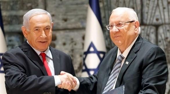 الرئيس الإسرائيلي ريفلين ورئيس الوزراء نتانياهو (أرشيف)