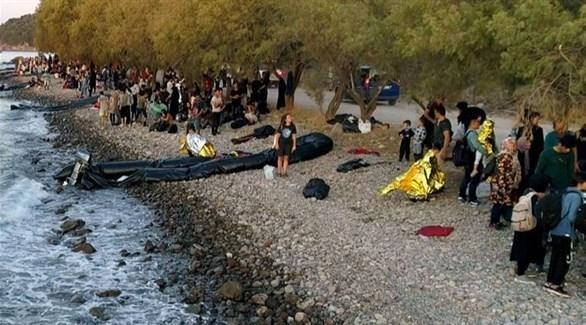 موجة من المهاجرين يصلون إلى اليونان (أرشيف)