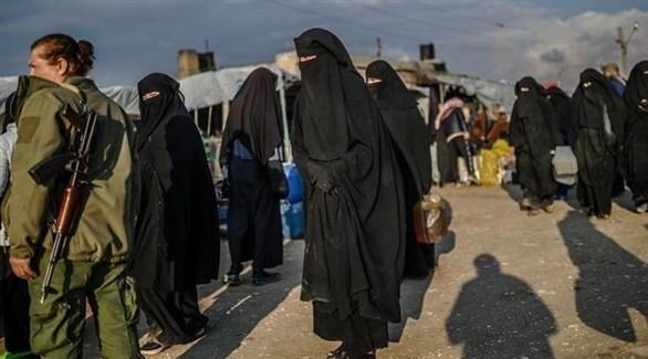 نساء داعش في مخيم الهول (أرشيف)