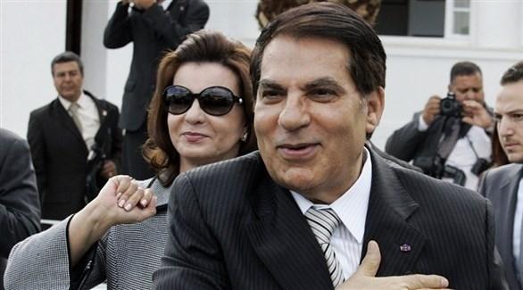 الرئيس التونسي الراحل زين العابدين بن علي وأرملته ليلى الطرابلسي (أرشيف)