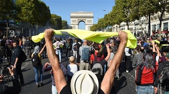 جانب من التظاهرات في باريس (أ ف ب)