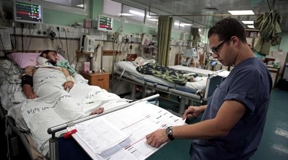 مريض في أحد المستشفيات الفلسطينية (أرشيف)