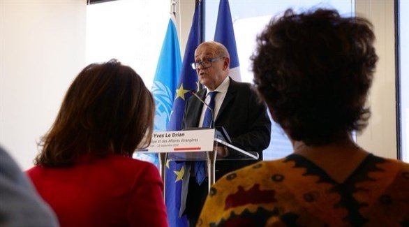 وزير الخارجية الفرنسي جان إيف لو دريان (تويتر)