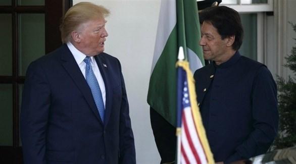 رئيس الوزراء الباكستاني عمران خان والرئيس الأمريكي دونالد ترامب (أرشيف)