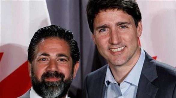 وسيم رملي ورئيس الحكومة الكندية جوستان ترودو (فيس بوك)