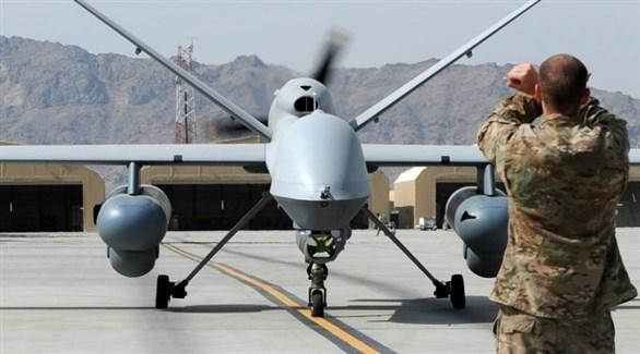 طائرة أمريكية دون طيار بعد هبوطها في إحدى قواعد الجيش الأمريكي (أرشيف)