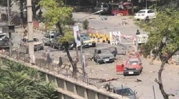 من محيط مكان الانفجار وسط كابول (تويتر)