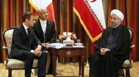 روحاني وماكرون في لقاء سابق (أرشيف)