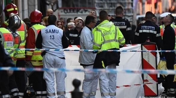 رجال أمن منتشرين في مكان هجوم بمارسيليا (أرشيف)