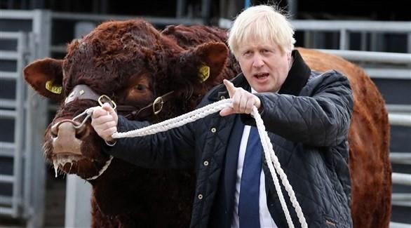 رئيس الوزراء بوريس جونسون بعيداً عن لندن (أ ف ب)