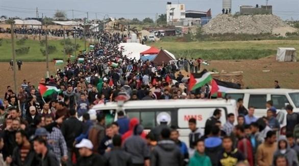 جانب من مسيرات العودة في غزة (أرشيف)