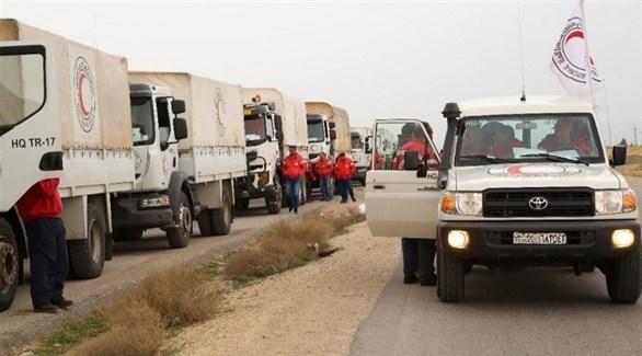 مساعدات إنسانية تصل مخيم الركبان (أرشيف)