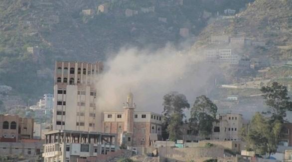 قصف حوثي على مدينة تعز اليمنية (أرشيف)