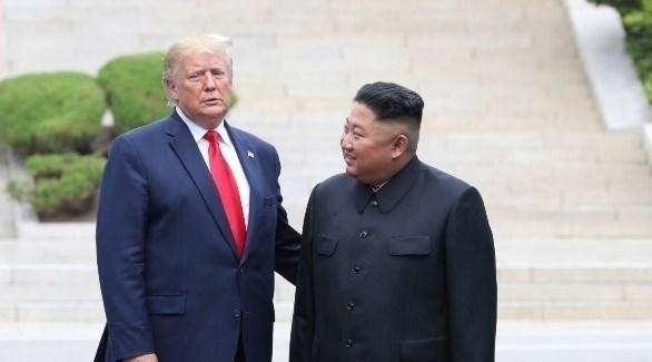 الرئيس الأمريكي دونالد ترامب ونظيرة الكوري الشمالي كيم جونغ أون(أرشيف)