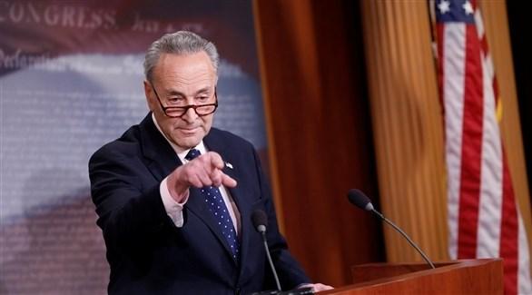 زعيم الأقلية الديمقراطية بمجلس الشيوخ الأمريكي تشاك شومر  (أرشيف)