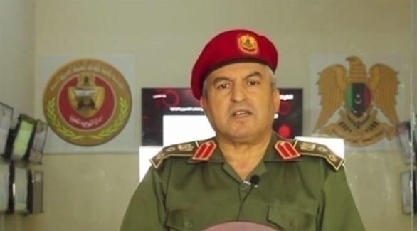 مدير إدارة التوجيه المعنوي بالجيش الوطني الليبي خالد المحجوب (أرشيف)
