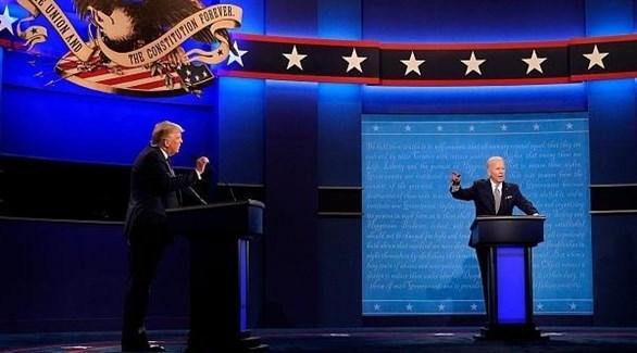 مناظرة بين الرئيس الأمريكي ترامب والمرشح بايدن (أرشيف)