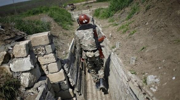 مقاتلون في قره باخ (أرشيف)