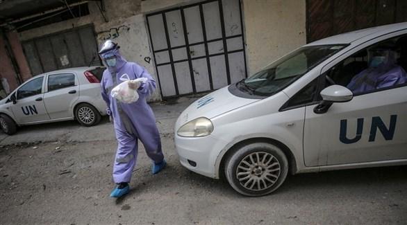 عامل بقطاع الصحة التابع للأونروا في غزة (إ ب أ)