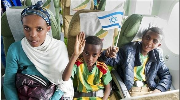 عائلة إثيوبية من الفلاشا في طريقها إلى إسرائيل (أرشيف)