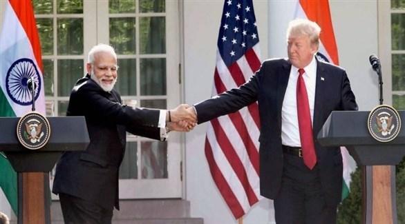 الرئيس الأمريكي ورئيس الوزراء الهندي (أرشيف)
