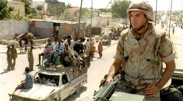 جندي أمريكي في مقديشو الصومالية (أرشيف)