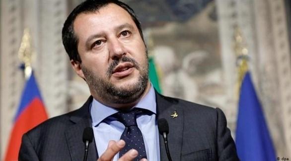 زعيم المعارضة الإيطالي اليميني المتشدد ماتيو سالفيني (أرشيف)