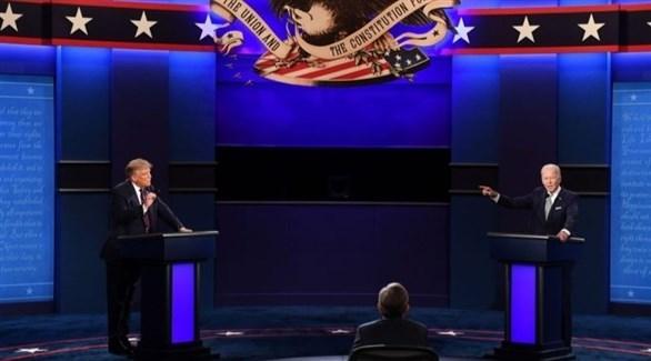مناظرة تلفزيونية بين بايدن وترامب (أرشيف)