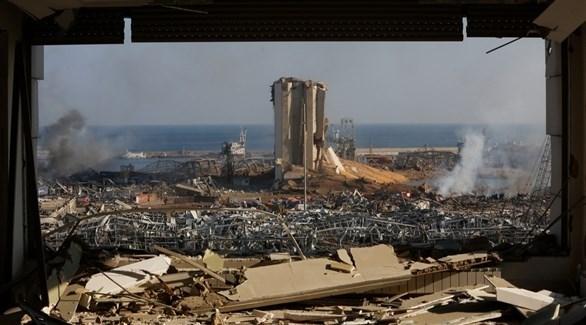 جانب من آثار دمار انفجار مرفأ بيروت (أرشيف)