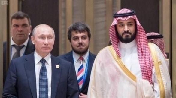 ولي العهد السعودي محمد بن سلمان والرئيس الروسي فلاديمير بوتين (أرشيف)