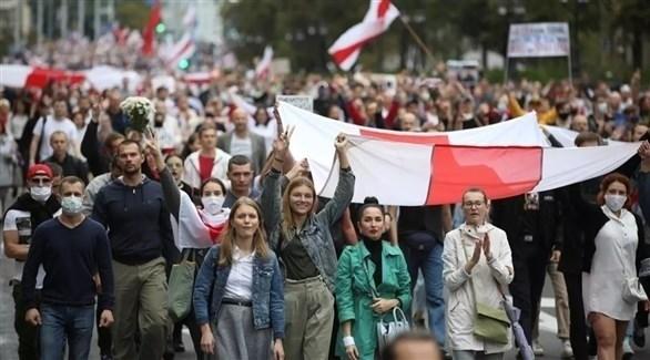 مظاهرات في بيلاروس ضد الرئيس ألكسندر لوكاشينكو (أرشيف)