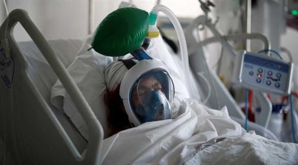 مصابة بكورونا في العناية المركزة (أرشيف)