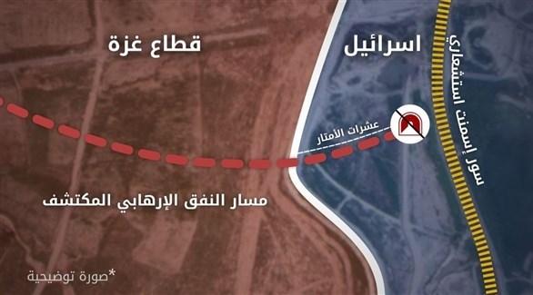 صورة توضيحية للنفق المكتشف (الجيش الإسرائيلي)